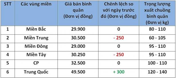 Giá heo hơi hôm nay 23/9: Giá xuất chuồng cao nhất 32.000 đồng/kg