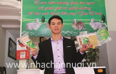 HTX thanh niên lập nghiệp Tân Linh: Tiên phong xây dựng chuỗi thực phẩm thỏ