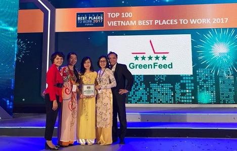 GreenFeed thuộc Top 100 nơi làm việc tốt nhất Việt Nam 2017