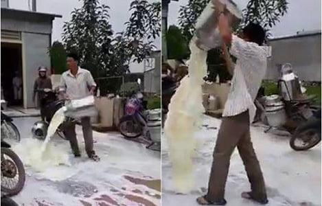"""Sốc với clip nông dân đổ sữa, GĐ Vinamilk Nghệ An """"không bình luận"""""""