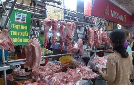 Thịt lợn bình ổn thị trường điều chỉnh tăng giá