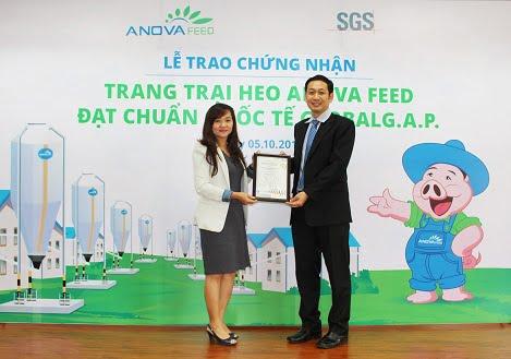 Anova Feed: Trang trại heo thứ 2 đạt chuẩn GlobalG.A.P.