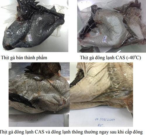 Việt Nam thử nghiệm bảo quản thịt gà 6 tháng vẫn tươi