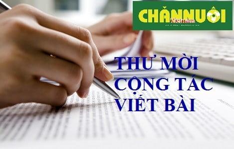 Thư mời cộng tác Tạp chí Chăn nuôi Việt Nam số Tết Kỷ Hợi 20109