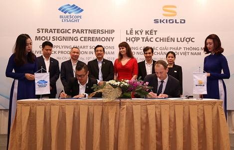 SKIOLD hợp tác với NS BlueScope Lysaght Việt Nam phát triển các giải pháp thông minh cho ngành chăn nuôi