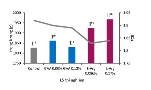 Những lợi ích của L-Arginine (L-Arg) so với axit Guanidinoacetic (GAA) trong quá trình chuyển hóa và hiệu suất chăn nuôi